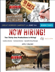 Great Horror Campout Now Hiring
