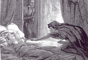 Illustration from The Dark Blue, by David Henry Friston, 1872.